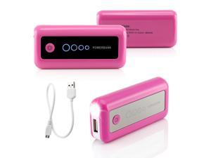 Gearonic ™ 5600mAh Universal Power Bank Backup External Battery Pack Portable USB Charger - Pink