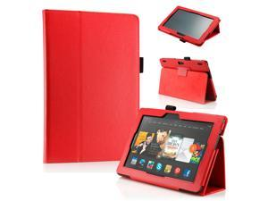 "GEARONIC ™ PU Leather Folio Cover Flip Smart Case Stand for Amazon Kindle Fire HDX 8.9"" 8.9-inch 2013 - Red"