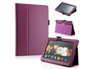 "GEARONIC ™ PU Leather Folio Cover Flip Smart Case Stand for Amazon Kindle Fire HDX 8.9"" 8.9-inch 2013 - Purple"