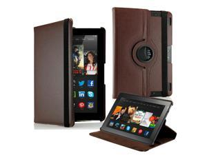 """GEARONIC ™  360 Degree Rotating PU Leather Flip Case With Swivel Stand for New Kindle Fire HDX 8.9"""" - Brown"""