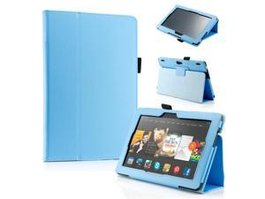 """GEARONIC ™ PU Leather Folio Cover Flip Smart Case Stand for Amazon Kindle Fire HDX 8.9"""" 8.9-inch 2013 - Light Blue"""