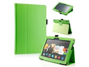 "GEARONIC ™ PU Leather Folio Cover Flip Smart Case Stand for Amazon Kindle Fire HDX 8.9"" 8.9-inch 2013 - Green"