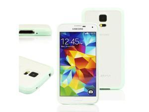 GEARONIC TM TPU bumper + Matte PC Back Case for Samsung Galaxy S5 SV i9600 - Mint Green