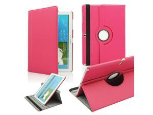 GEARONIC TM PU Leather Rotate Case Stand Flip Cover Skin For Samsung Galaxy Note Pro 12.2 inch Tablet - Hot Pink