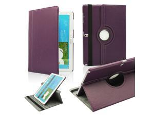 GEARONIC TM PU Leather Rotate Case Stand Flip Cover Skin For Samsung Galaxy Note Pro 12.2 inch Tablet - Purple