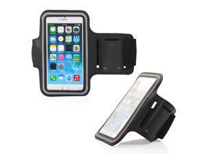 GEARONIC TM Premium Full Running Jogging Sports Gym Armband Case Cover Holder for Apple iPhone 6 - Black