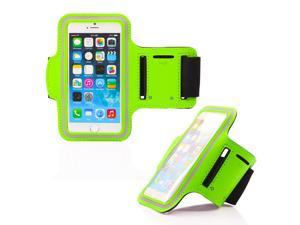 GEARONIC TM Premium Full Running Jogging Sports Gym Armband Case Cover Holder for Apple iPhone 6 - Green