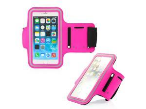 GEARONIC TM Premium Full Running Jogging Sports Gym Armband Case Cover Holder for Apple iPhone 6 - Hot Pink
