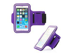 GEARONIC TM Premium Full Running Jogging Sports Gym Armband Case Cover Holder for Apple iPhone 6 - Purple