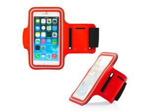 GEARONIC TM Premium Full Running Jogging Sports Gym Armband Case Cover Holder for Apple iPhone 6 - Red