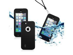 GEARONIC TM Newest Durable Waterproof Shockproof Dirt Snow Proof Case Cover For iPhone SE 5 5C 5S - Black