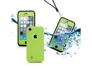 GEARONIC TM Newest Durable Waterproof Shockproof Dirt Snow Proof Case Cover For iPhone SE 5 5C 5S - Green