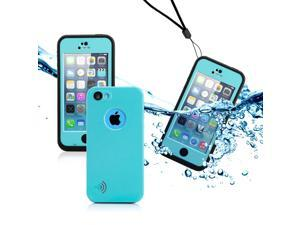 GEARONIC TM Newest Durable Waterproof Shockproof Dirt Snow Proof Case Cover For iPhone SE 5 5C 5S - Sky Blue
