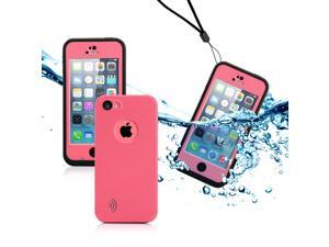 GEARONIC TM Newest Durable Waterproof Shockproof Dirt Snow Proof Case Cover For iPhone SE 5 5C 5S - Pink