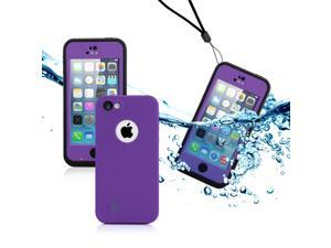 GEARONIC TM Newest Durable Waterproof Shockproof Dirt Snow Proof Case Cover For iPhone SE 5 5C 5S - Purple