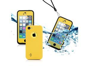 GEARONIC TM Newest Durable Waterproof Shockproof Dirt Snow Proof Case Cover for iPhone 5C - Yellow