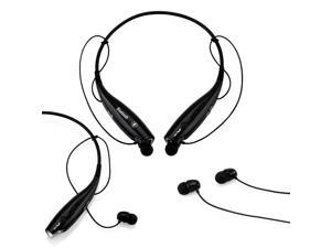 GEARONIC TM Wireless Sport Stereo Headset Bluetooth Earphone headphone for Samsung LG iPhone -Black