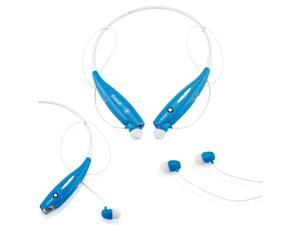 GEARONIC TM Wireless Sport Stereo Headset Bluetooth Earphone headphone for Samsung LG iPhone -Blue