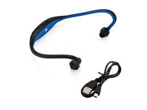 GEARONIC TM Sports Wireless Stereo Bluetooth Wrap Around Earphones Headset Headphone For Samsung iPhone Cellphone PC - Blue