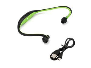 GEARONIC TM Sports Wireless Stereo Bluetooth Wrap Around Earphones Headset Headphone For Samsung iPhone Cellphone PC - Green