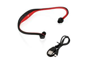 GEARONIC TM Sports Wireless Stereo Bluetooth Wrap Around Earphones Headset Headphone For Samsung iPhone Cellphone PC - Red