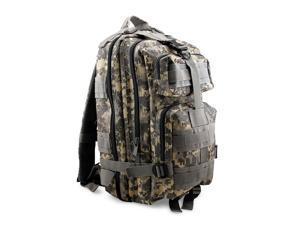 Men Women Unisex Vintage Canvas Rugged Utility Camping Travel Hiking Backpack Satchel Military Shoulder School Bag Messenger Sports Rucksack - Brown Camo