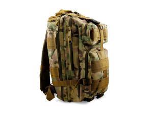 Men Women Unisex Vintage Canvas Rugged Utility Camping Travel Hiking Backpack Satchel Military Shoulder School Bag Messenger Sports Rucksack - Green Camo