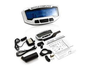 LCD Mountable Bike Bicycle Cycling Computer Odometer Speedometer Velometer with 28 Functions