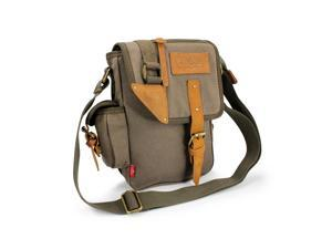 Men's Military Canvas Messenger Shoulder Sling school Belt Crossbody Travel Hiking Bag Satchel - Green