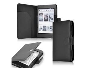 GEARONIC TM Flip PU Leather Durable Folio Protective Cover Case for NEW Kindle Voyage 2014 - Black