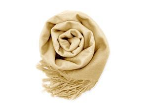 GEARONIC TM Fashion Lady Women's Long Range Pashmina Silk Solid colors Scarf Wraps Shawl Stole Soft Scarves - Beige
