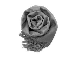 GEARONIC TM Fashion Lady Women's Long Range Pashmina Silk Solid colors Scarf Wraps Shawl Stole Soft Scarves - Gray
