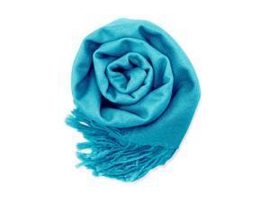 GEARONIC TM Fashion Lady Women's Long Range Pashmina Silk Solid colors Scarf Wraps Shawl Stole Soft Scarves - Teal Blue