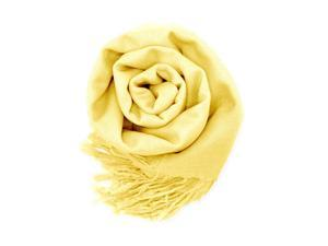 GEARONIC TM Fashion Lady Women's Long Range Pashmina Silk Solid colors Scarf Wraps Shawl Stole Soft Scarves - Light Yellow