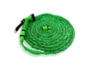 GEARONIC TM Expandable Flexible Stronger Deluxe Garden Water Hose w/ Spray Nozzle - 50ft- Green