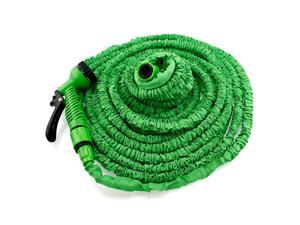 GEARONIC TM Expandable Flexible Stronger Deluxe Garden Water Hose w/ Spray Nozzle - 100ft- Green