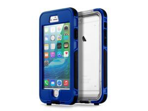 GEARONIC TM Waterproof Shockproof Dirt Snow Proof Durable Touch Screen Case Cover for Apple iPhone 6 / 6S Plus - Dark Blue