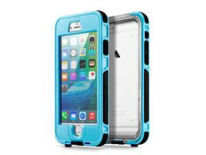 GEARONIC TM Waterproof Shockproof Dirt Snow Proof Durable Touch Screen Case Cover for Apple iPhone 6 / 6S Plus - Light Blue