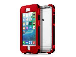 GEARONIC TM Waterproof Shockproof Dirt Snow Proof Durable Touch Screen Case Cover for Apple iPhone 6 / 6S Plus - Red
