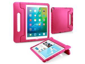 GEARONIC TM Shockproof Kids Child Eva Safe Thick Foam Handle Protective Case Cover Stand for Apple iPad Pro 12.9 inch - Hot Pink
