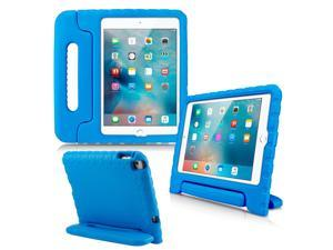 GEARONIC TM Shockproof Kids Eva Safe Thick Foam Handle Protective Case Cover Stand for Apple iPad mini 4 - Blue