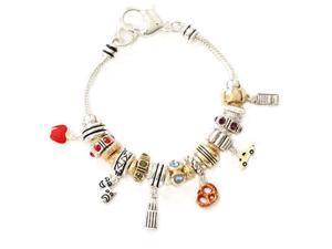 New York City Theme Designer Style Bead Charm Bracelet