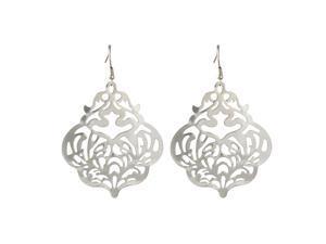 Shiny Silvertone Designer Dangle Earrings Fashion Jewelry