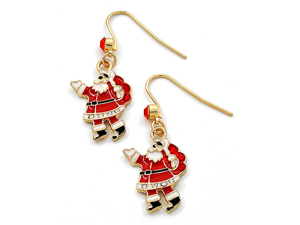 Christmas Santa Claus Dangle Earrings