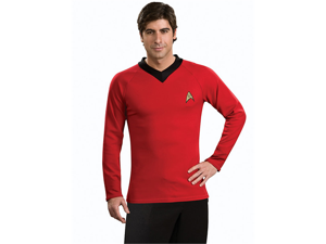 Star Trek Classic Deluxe Red Costume Adult Medium