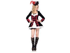 Womens Sexy Charming Pirate Captain Costume