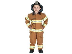 Aeromax Kid's Tan Junior Firefighter Costume - Medium