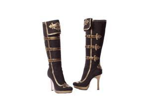 Sexy Black and Gold Pirate Boot