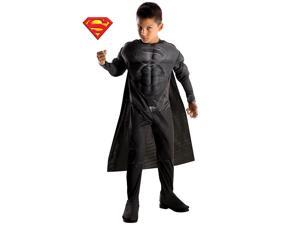 Deluxe Superman Black Suit Boy's Costume