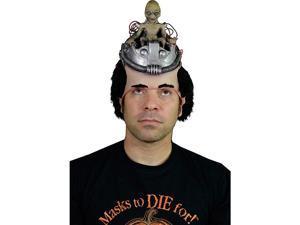 Trick or Treat Studios Controlling Alien Pilot Head Halloween Costume Hat Wig